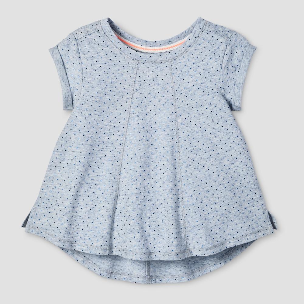 Toddler Girls Solid T-Shirt - Cat & Jack Blue Heather 4T