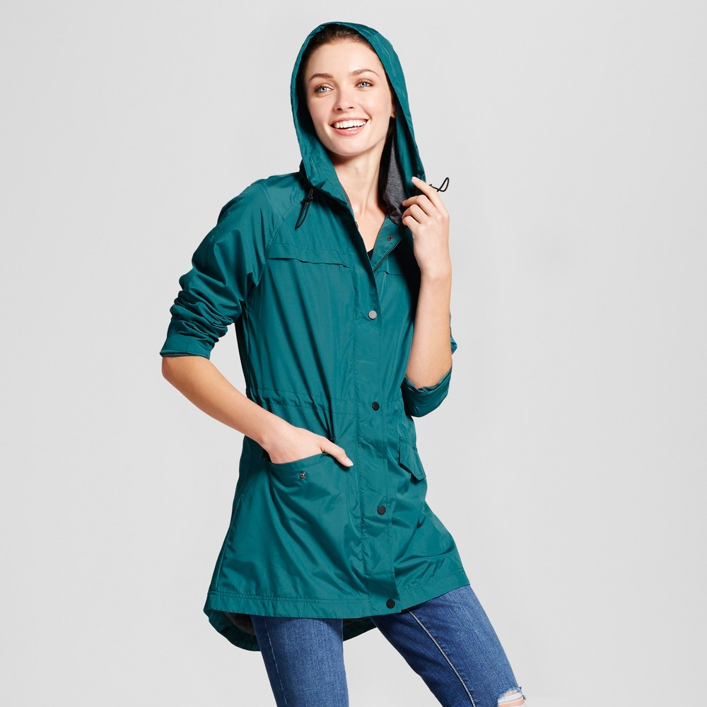 Womens Anorak Jacket - A New Day Teal (Blue) S