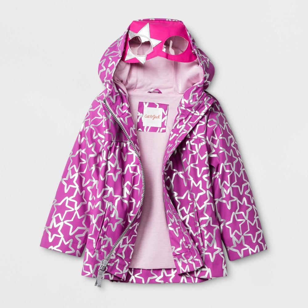 Toddler Girls Rain Jacket Cat & Jack Purple 2T