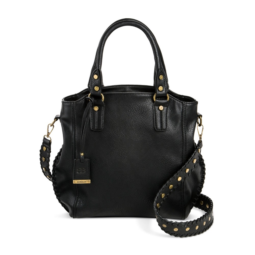 Womens Borsani Satchel Handbag - Black