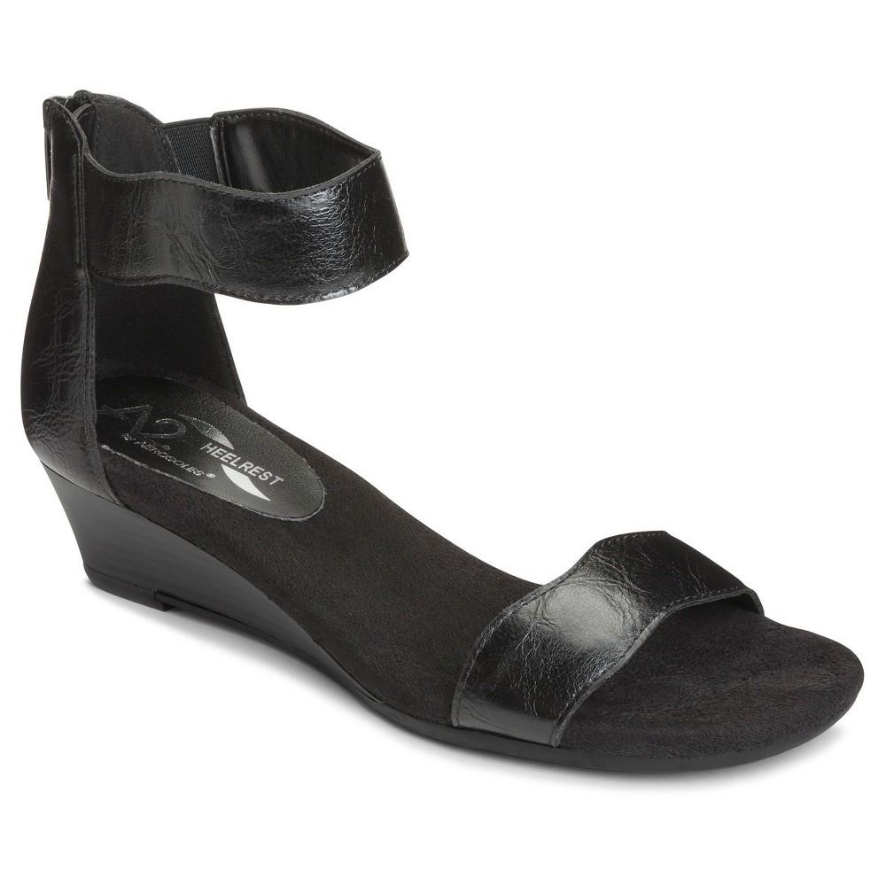 Womens A2 by Aerosoles Yet Around Wedge Gladiator Sandals - Black 8