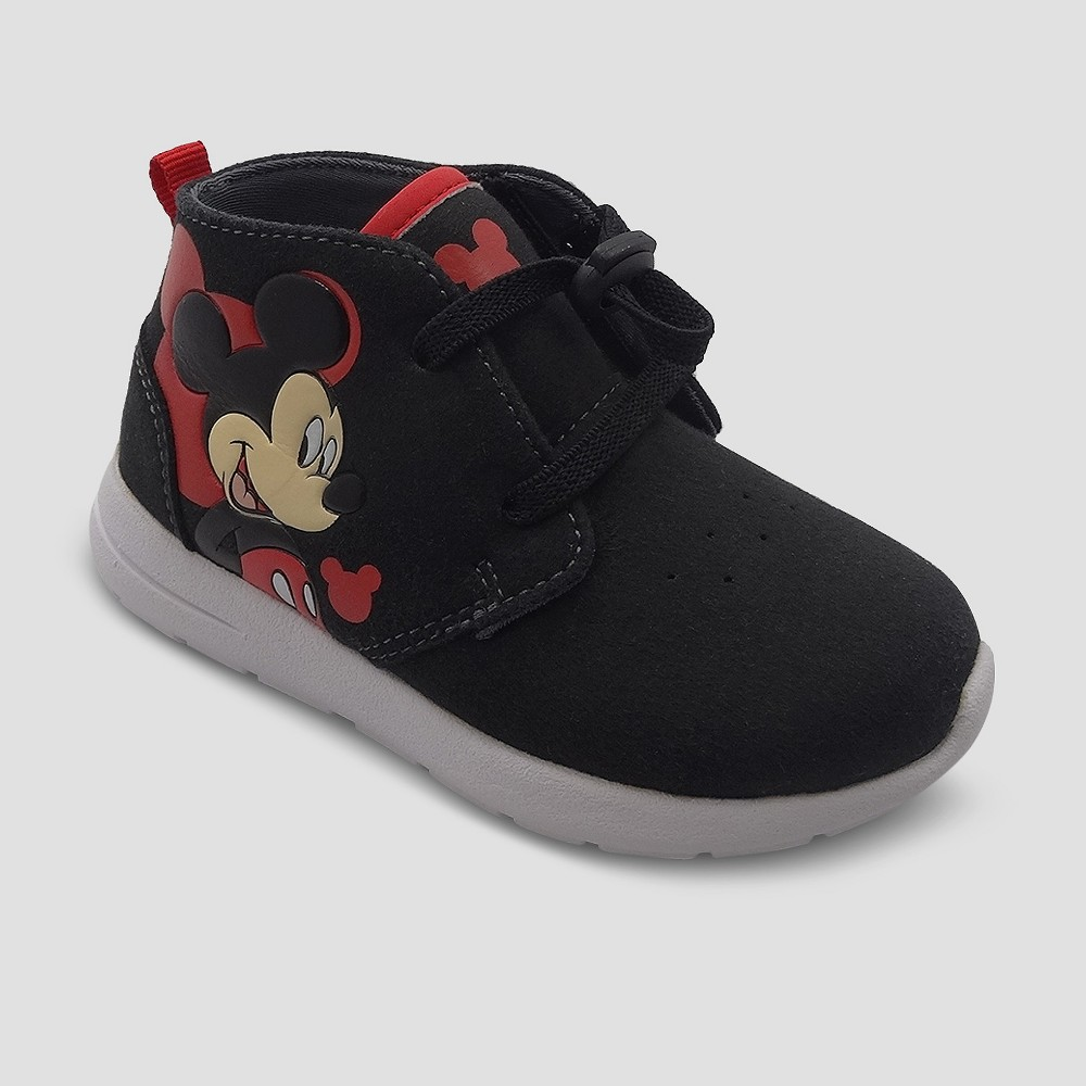 Mickey Mouse Toddler Boys' High Top Sneakers - Black 8