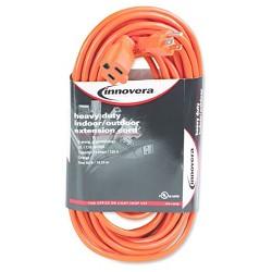 Innovera® Indoor/Outdoor Extension Cord, 50ft, Orange