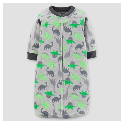 Baby Boys' Dinos Micro Fleece Sleepbag - Just One You™ Made by Carter's® Green/Gray 0-9M