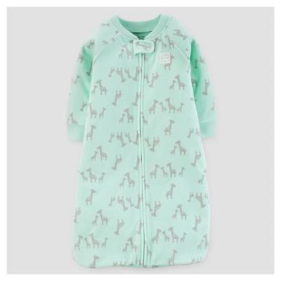 Baby Giraffes Micro Fleece Sleepbag - Just One You™ Made by Carter's® Mint 0-9M