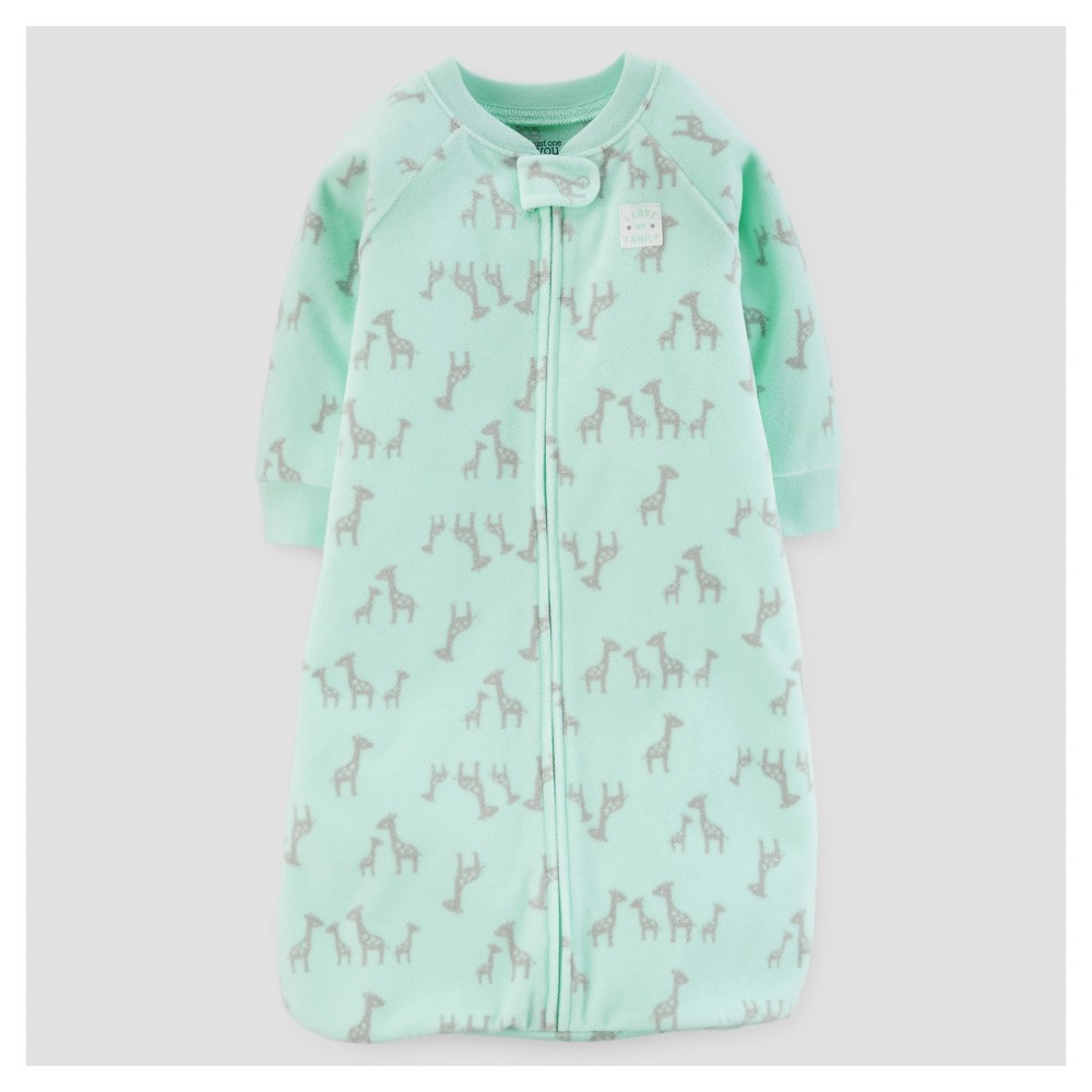 Baby Giraffes Micro Fleece Sleepbag - Just One You Made by Carters Mint (Green) 0-9M, Infant Unisex, Size: 0-9 M