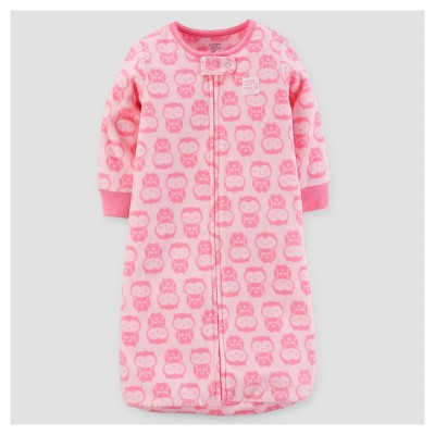 Baby Girls' Owls Micro Fleece Sleepbag - Just One You™ Made by Carter's® Pink 0-9M
