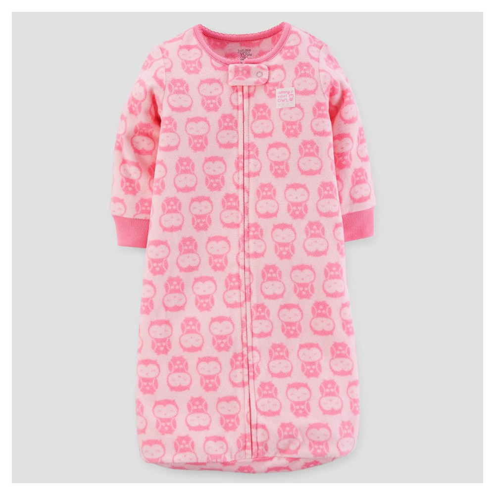Baby Girls Owls Micro Fleece Sleepbag - Just One You Made by Carters Pink 0-9M, Size: 0-9 M