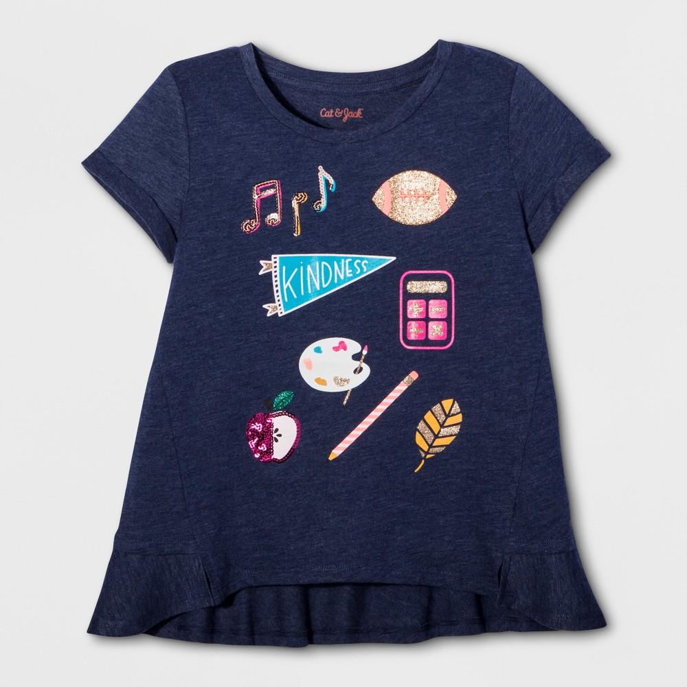Girls Be Kind Graphic T-Shirt - Cat & Jack Nightfall Blue XS