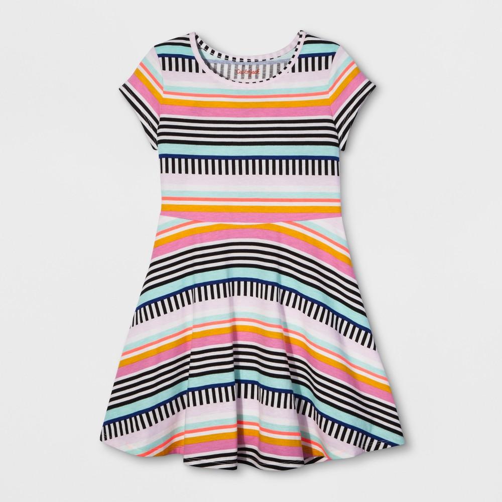 Girls Stripe Dress - Cat & Jack XL, Multicolored