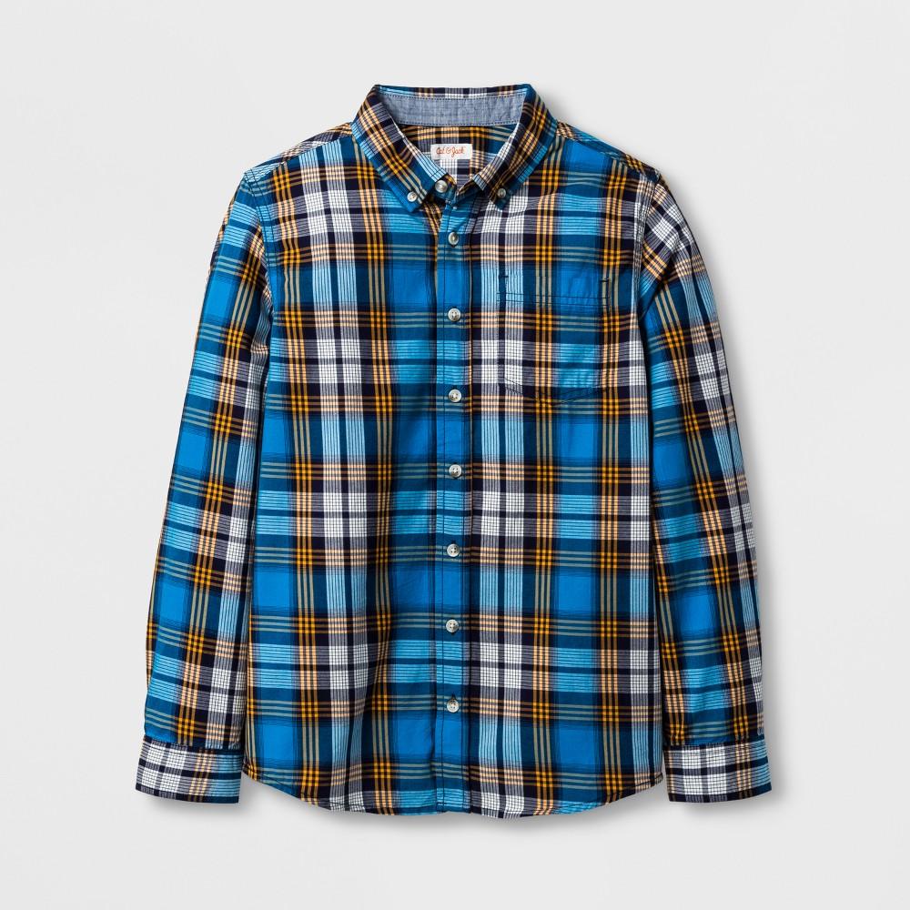 Boys Button Down Shirt - Cat & Jack Stately Blue XS