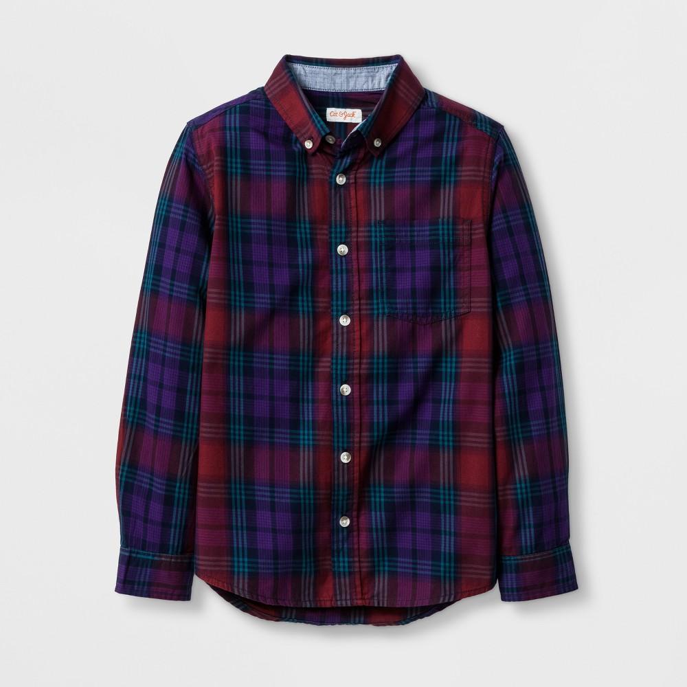 Boys Button Down Shirt - Cat & Jack Burgundy Xxl, Red