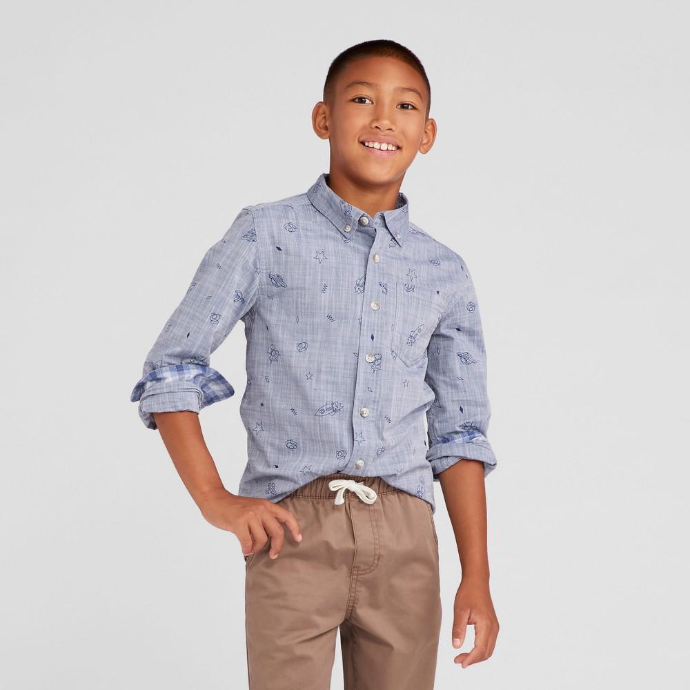 Boys Button Down Shirt - Cat & Jack Blue L