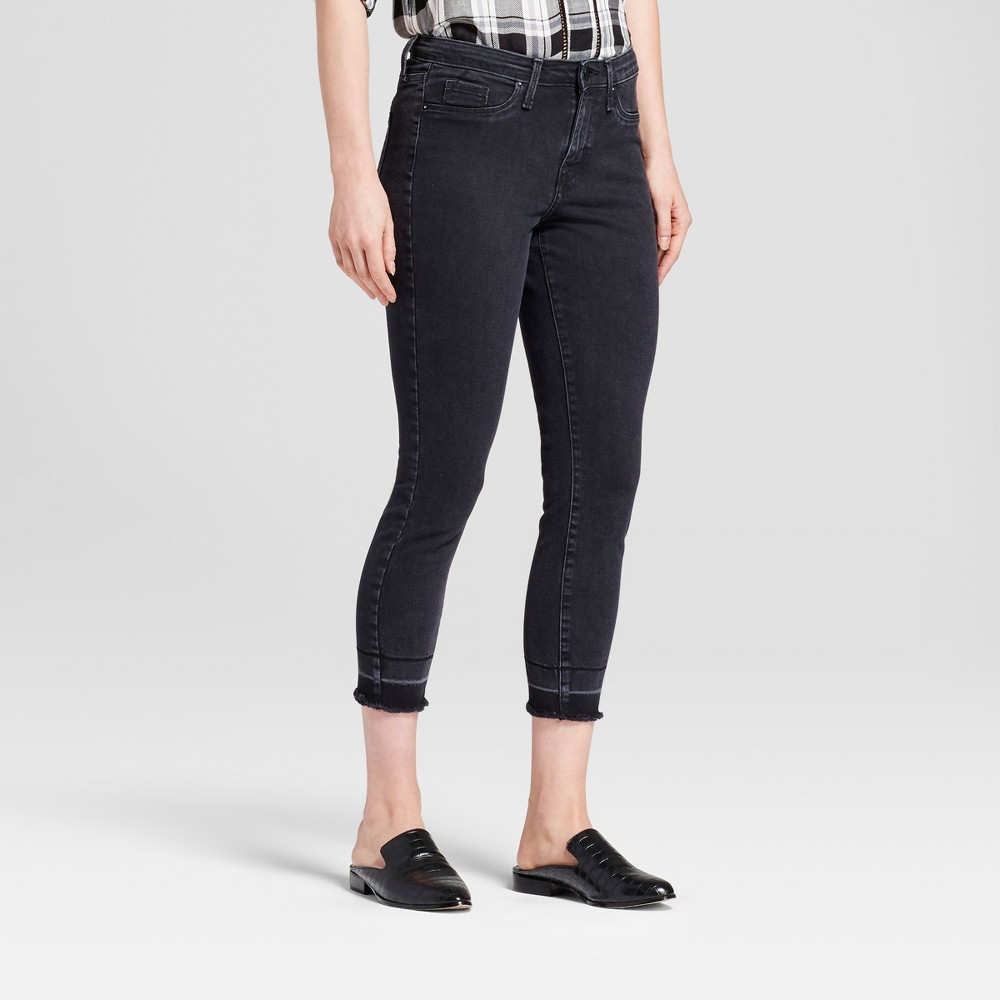 Womens Crop Jeggings - Mossimo Black 4