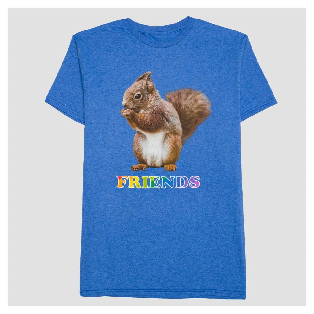 Pride Adult Big & Tall Squirrel Friends T-Shirt - Light Blue Heather 5XL, Mens