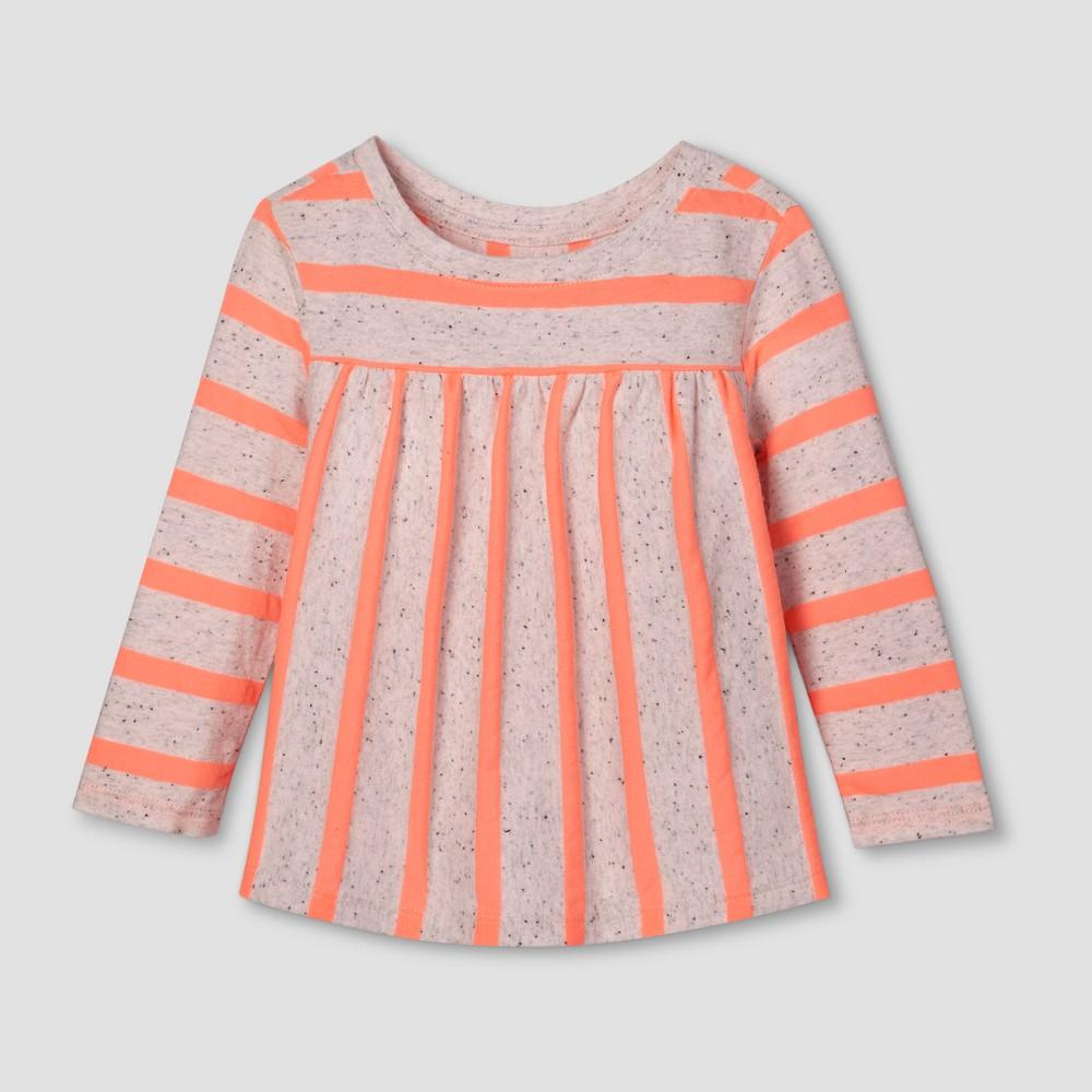 Toddler Girls T-Shirt - Cat & Jack Moxie Peach 2T, Orange