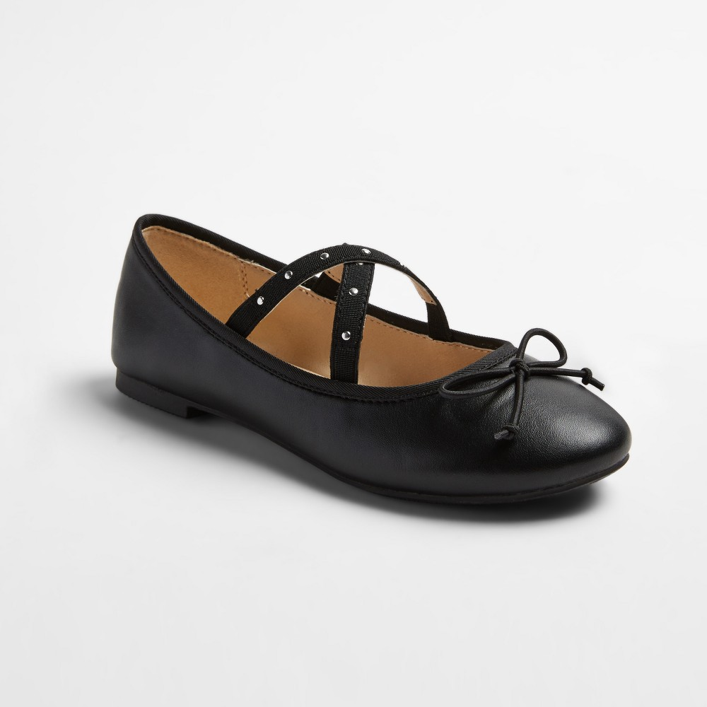 Girls Stevies #plieee Ballet Flats with Studs - Black 5