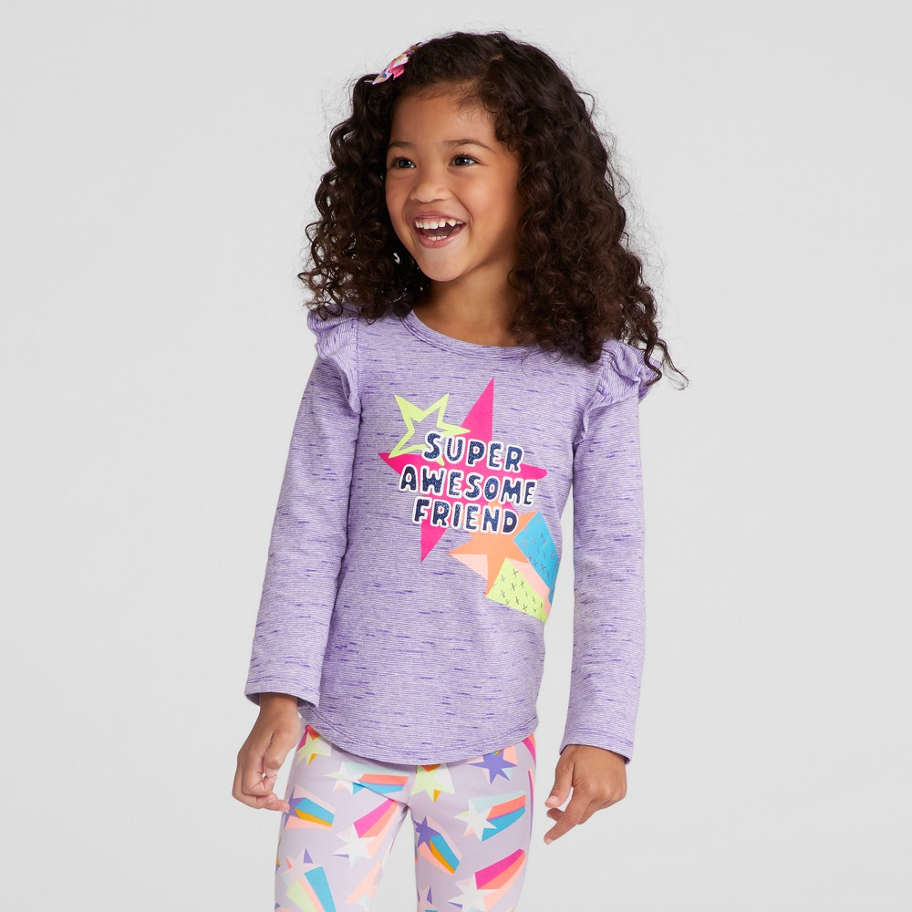 Toddler Girls Graphic T-Shirt - Cat & Jack Verily Iris 4T, Purple