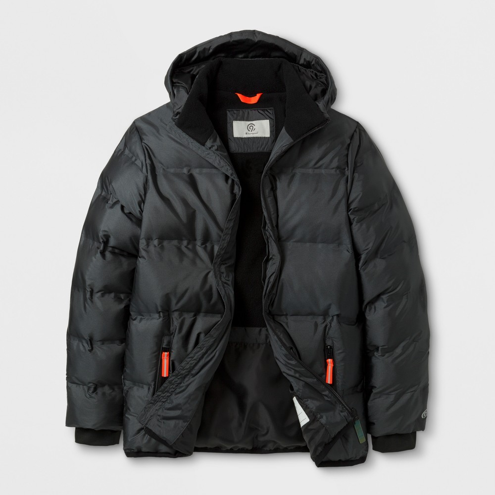 Boys Puffer Jacket - C9 Champion Iridescent/Railroad Gray L