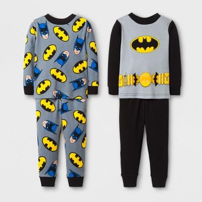 Baby Boys' DC Comics Batman 4pc Cotton Pajama Set - Black 24M