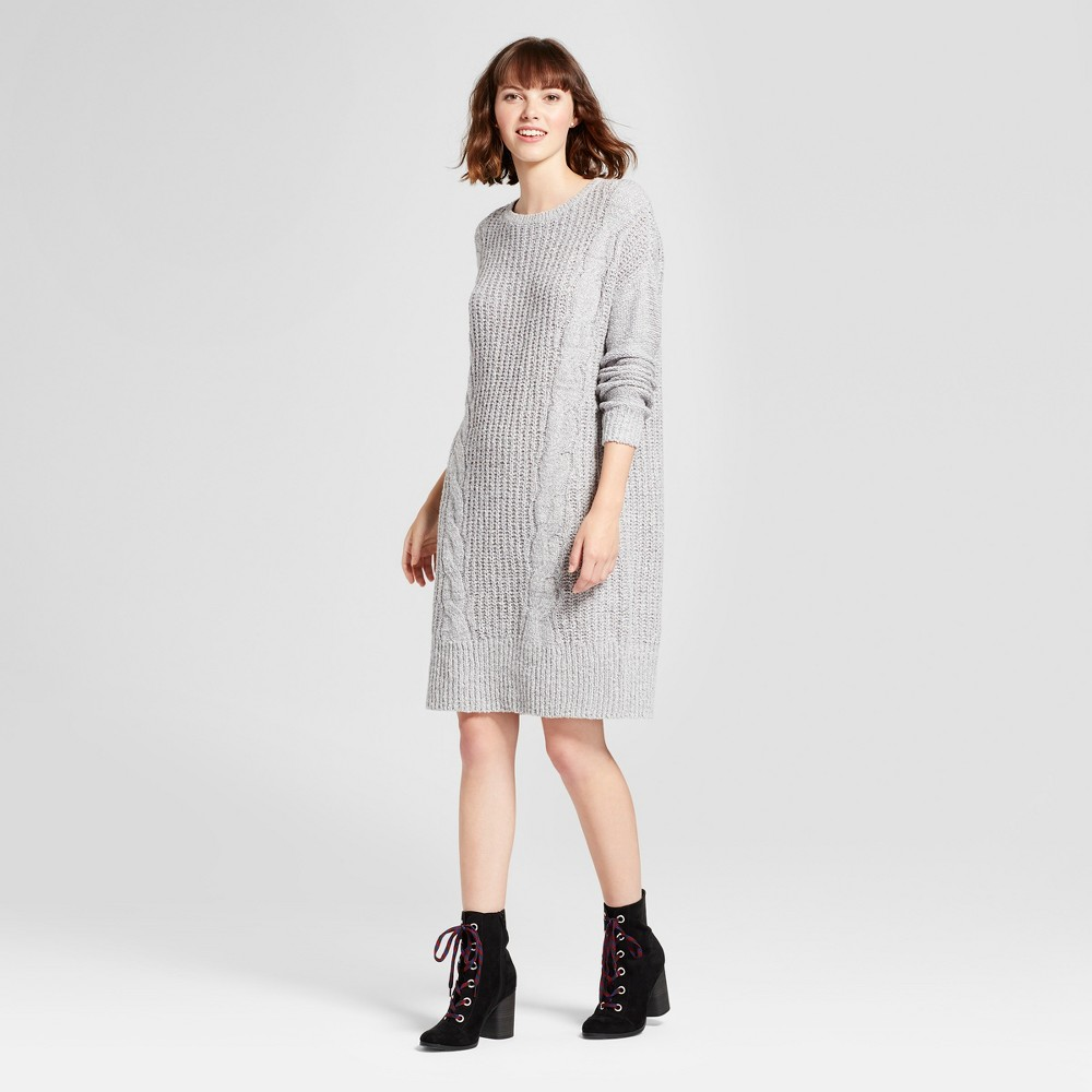Womens Cable Knit Sweater Dress - Mossimo Supply Co. Gray S