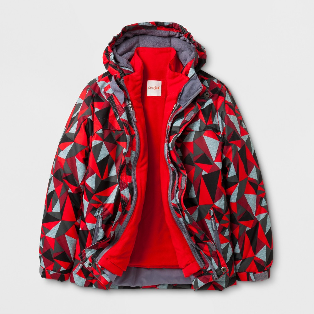 Boys 3-in-1 Systems Jacket - Cat & Jack Red L, Wowzer Red