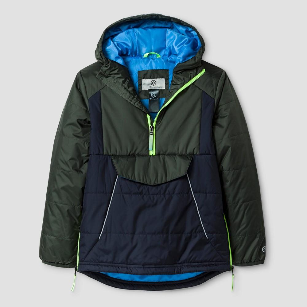 Boys Mid Weight Anorak Puffer Jacket - C9 Champion Blue L, Green