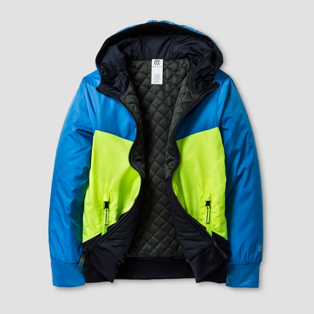 Boys Reversible Puffer Jacket - C9 Champion Blue L, Polar Sky