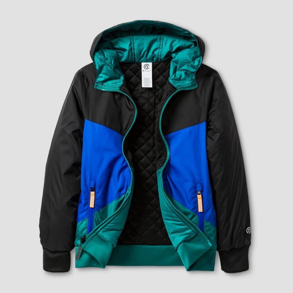 Boys Reversible Puffer Jacket - C9 Champion Flight Blue Heather L