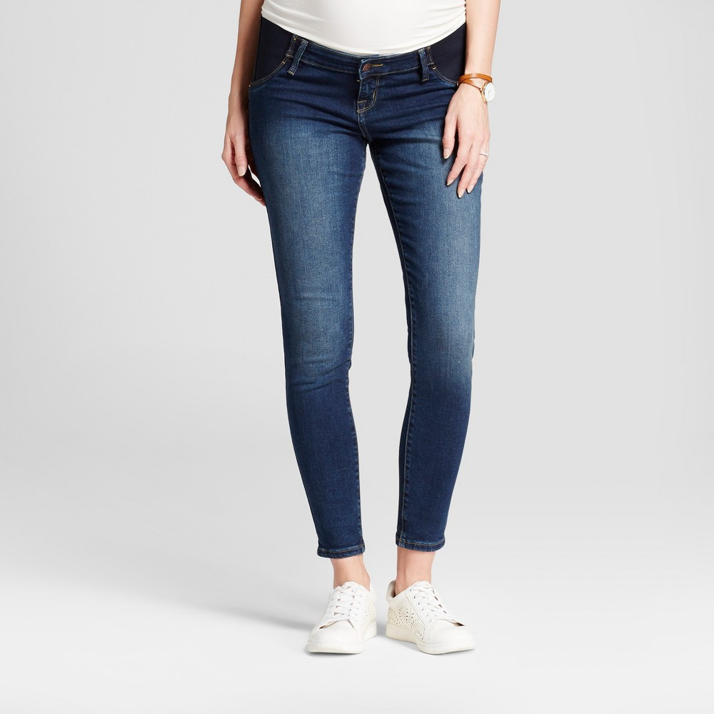 Maternity Inset Panel Skinny Jeans - Isabel Maternity by Ingrid & Isabel Dark Wash 4, Womens, Blue