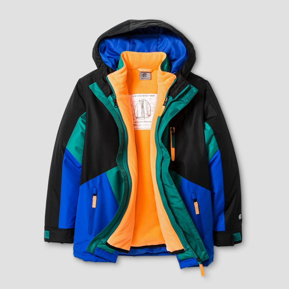 Boys 3-in-1 System Reversible Jacket - C9 Champion Blue L