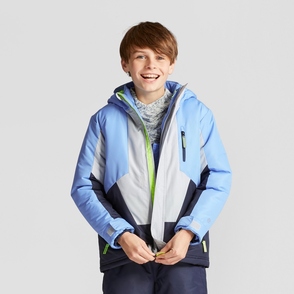 Boys 3-in-1 System Reversible Jacket - C9 Champion Blue L, Polar Sky