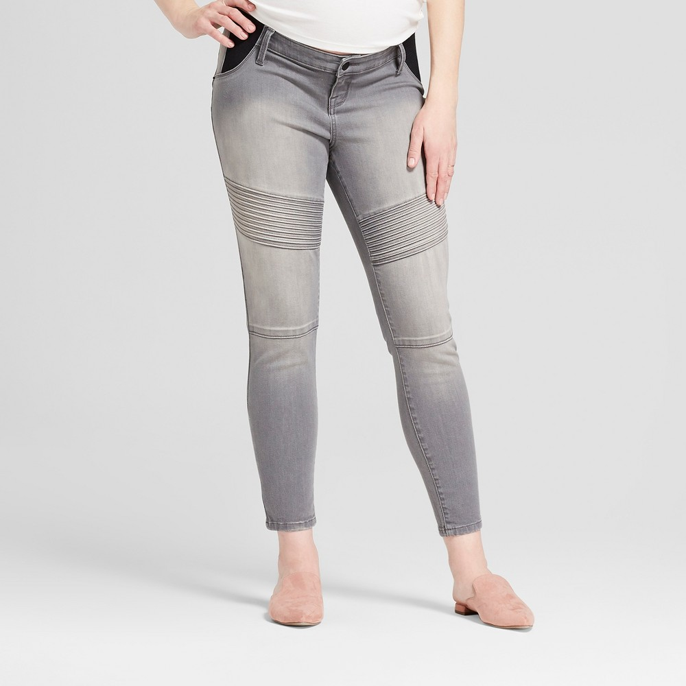 Maternity Inset Panel Skinny Jeans - Isabel Maternity by Ingrid & Isabel Gray Wash 12, Womens