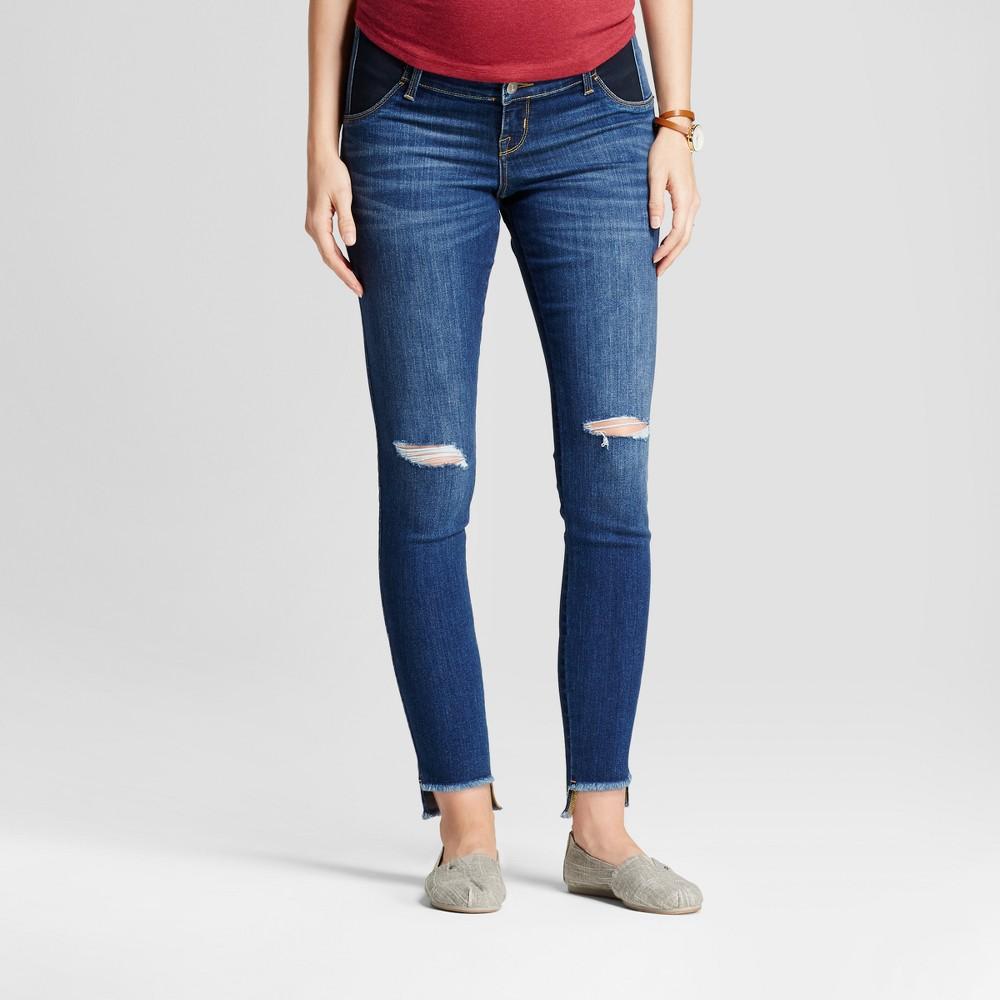 Maternity Inset Panel Skinny Jeans - Isabel Maternity by Ingrid & Isabel Medium Wash 10, Women's, Blue