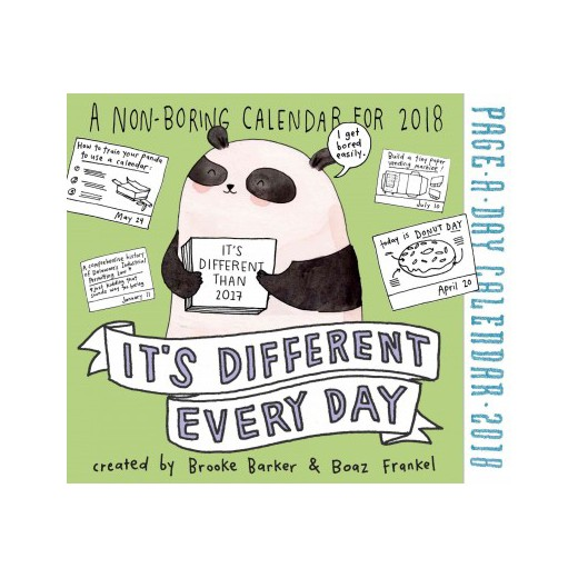 Its Different Every Day 2018 Calendar Paperback Brooke Barker