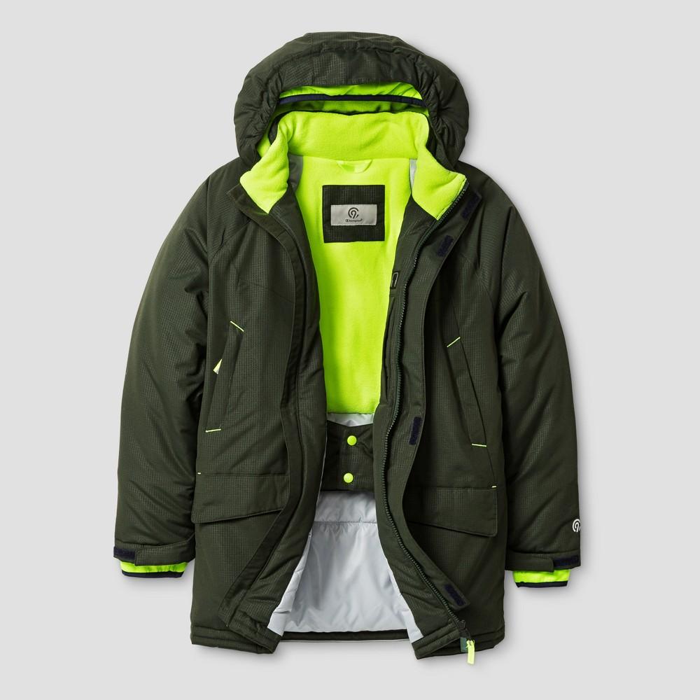 Boys Parka Jacket - C9 Champion Forest Grove/Reflector Green L