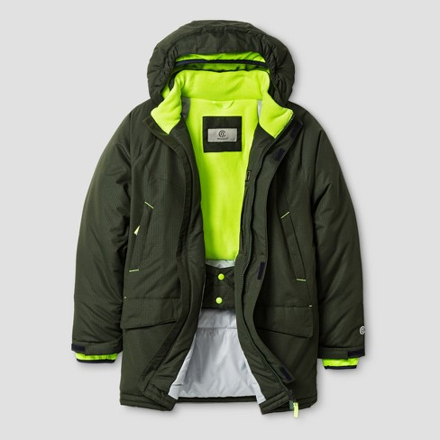 C9 Champion® Boys' Parka Jacket - Forest Grove/Reflector Green - image 1 of 2