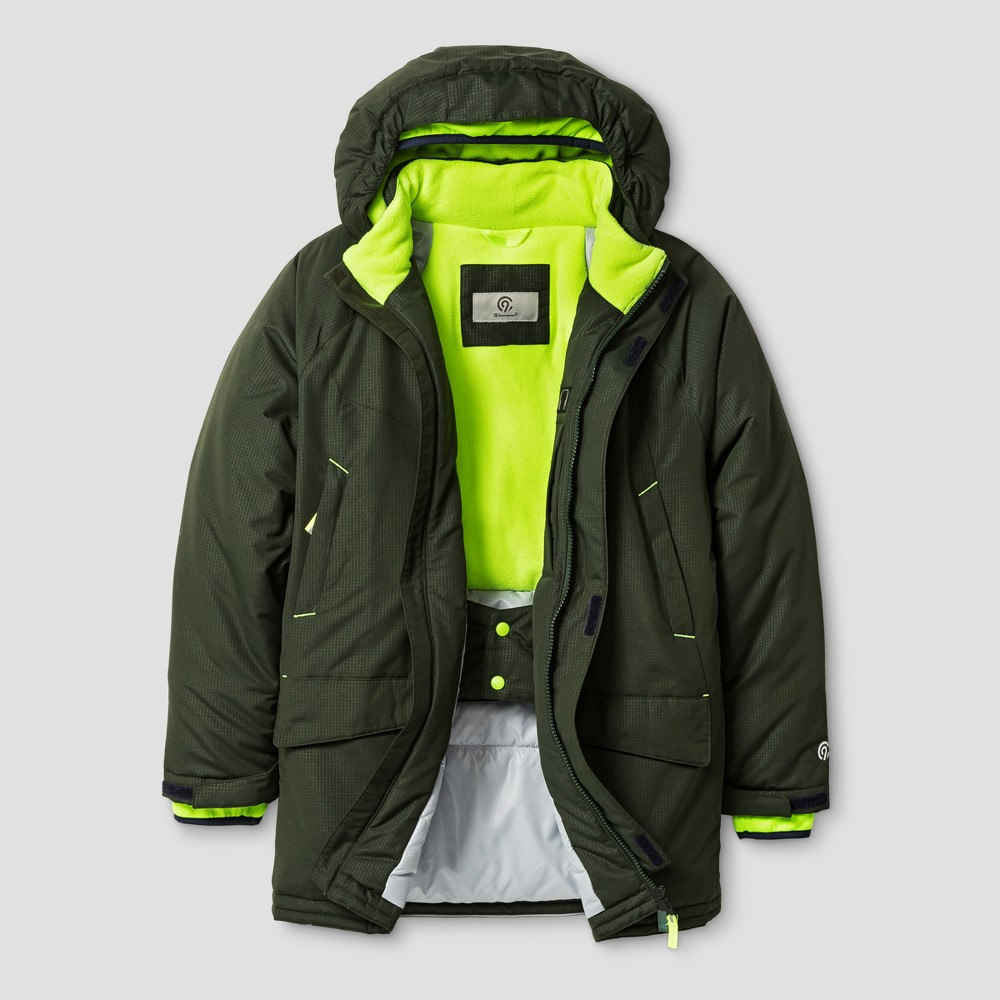 Boys Parka Jacket - C9 Champion Forest Grove/Reflector Green S