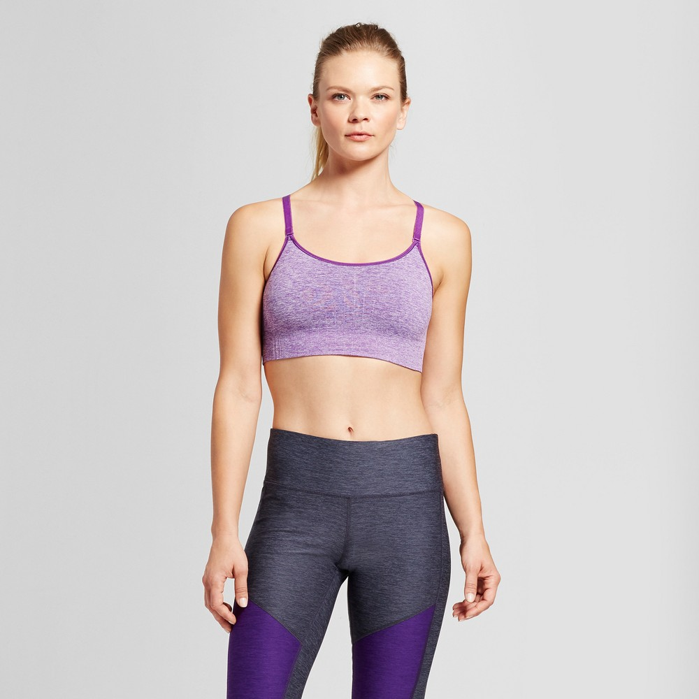 Womens Medium Support Seamless Cami Sports Bra - C9 Champion - Grape Splash Heather S