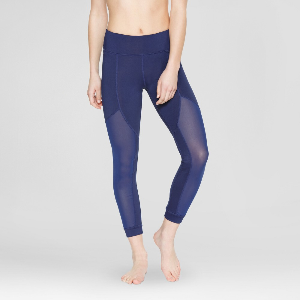 Velvet Rose Women's Leggings with Mesh – Twilight Blue M