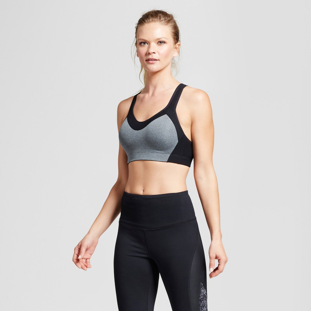 Womens Power Shape Medium Support Sports Bra - C9 Champion - Dark Gray Heather L