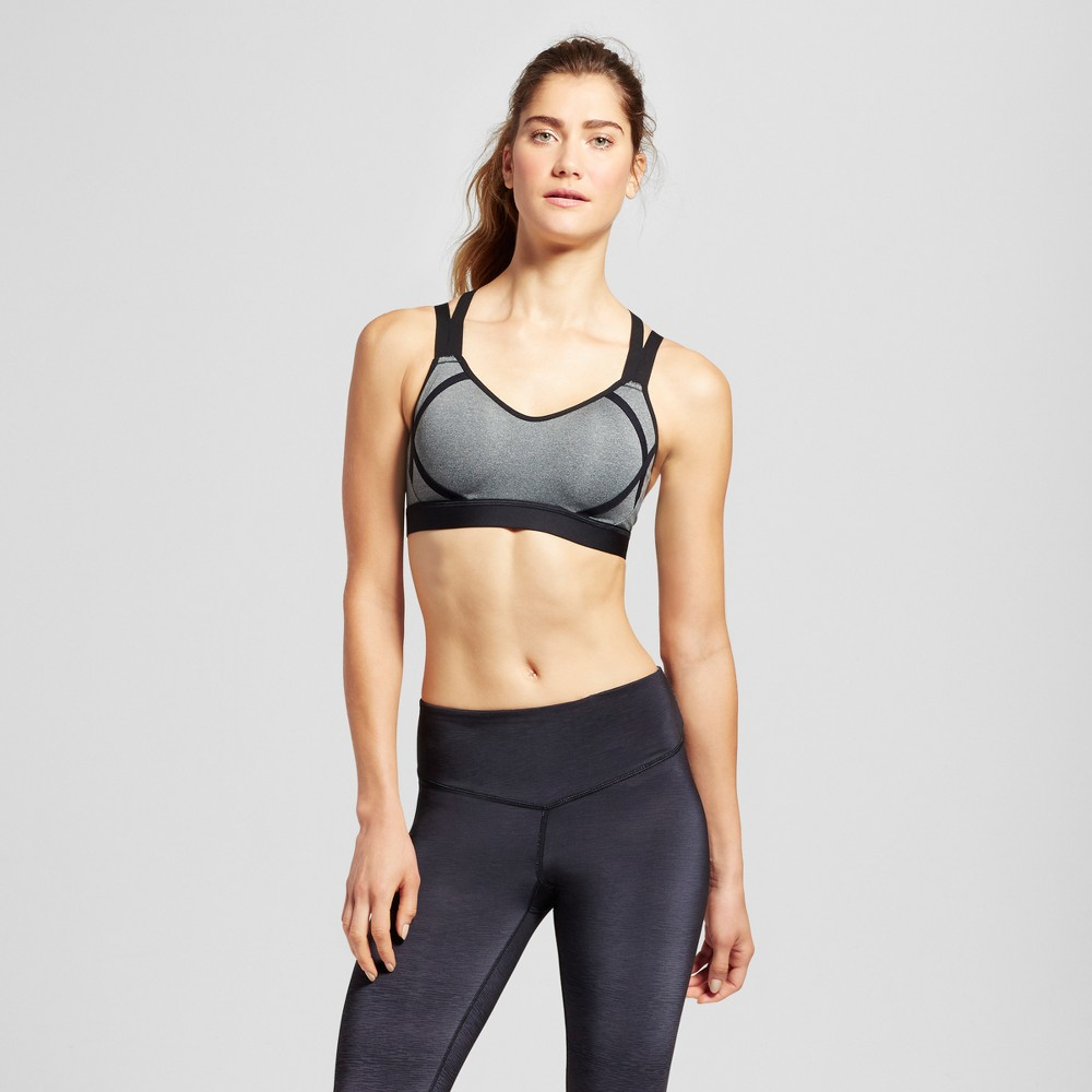 Womens Power Shape Medium Support Strappy Back Sports Bra - C9 Champion - Dark Gray Heather M
