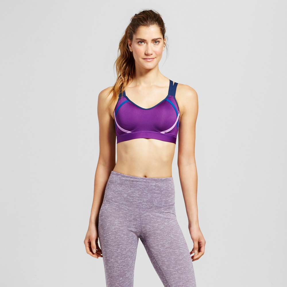 Womens Power Shape Medium Support Strappy Back Sports Bra - C9 Champion - Grape Splash L