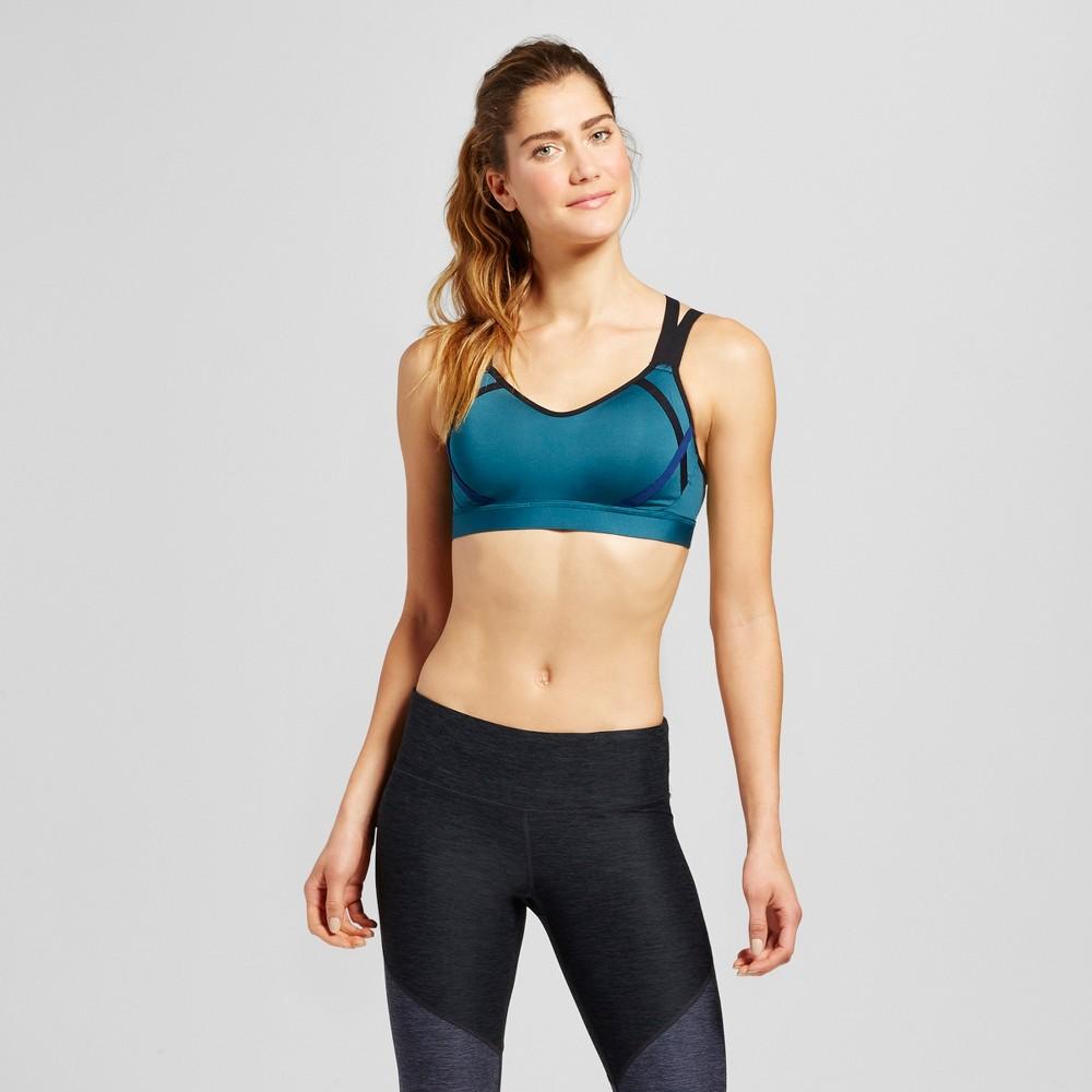 Womens Power Shape Medium Support Strappy Back Sports Bra - C9 Champion - Jeweled Jade S