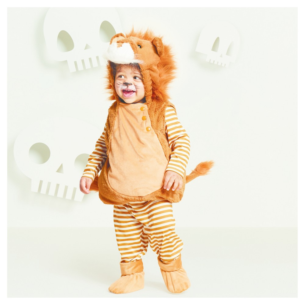Baby Plush Lion Vest Costume - 12-18 Months - Hyde and Eek! Boutique, Infant Boys, Brown White