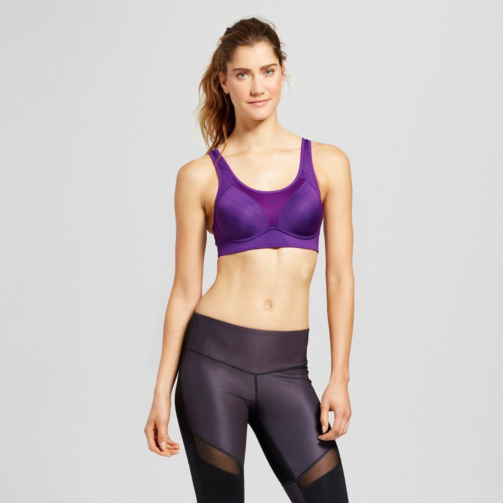 Womens Power Shape Max Support Convertible Sports Bra - C9 Champion - Grape Splash 42DDD