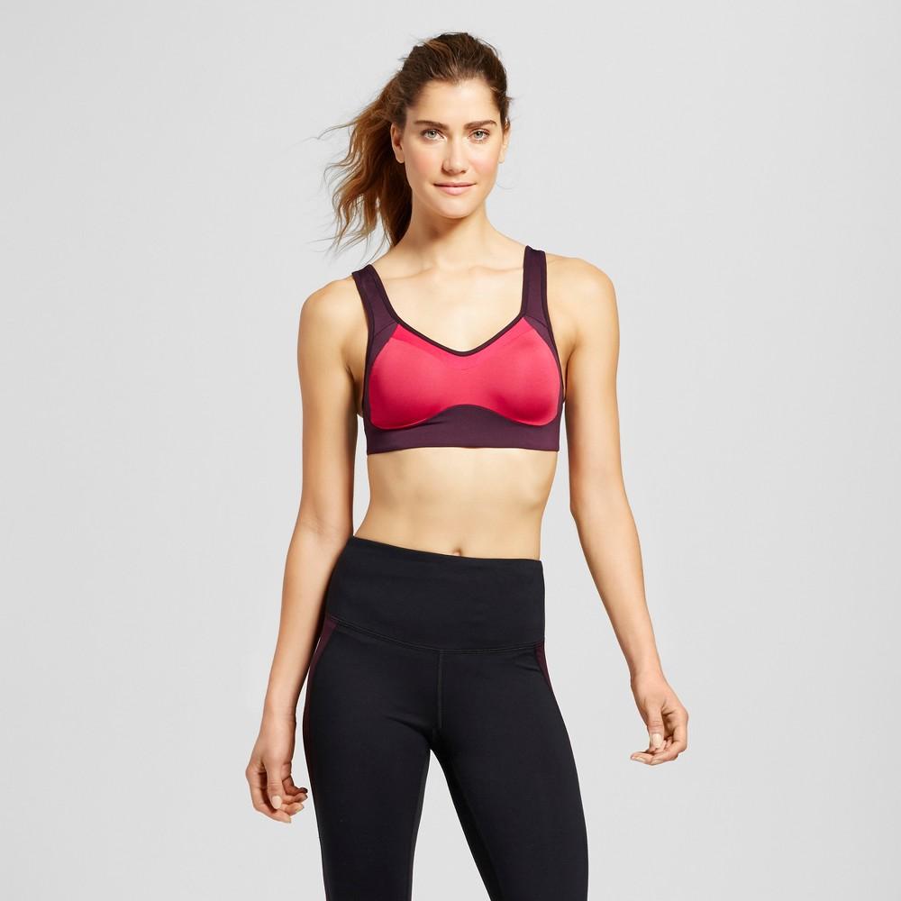 Womens Power Shape Max Support Convertible Sports Bra - C9 Champion - Deep Raspberry 34D, Size: 36C