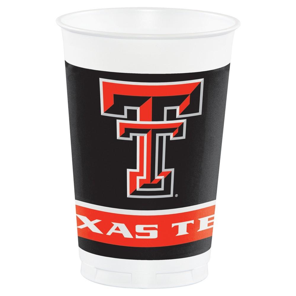 8ct Texas Tech Red Raiders University Plastic Cups