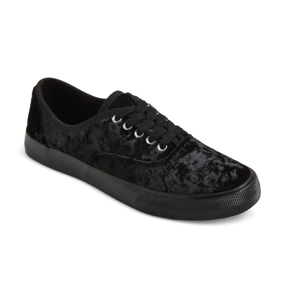 Women's Savannah Velvet Sneakers - Mossimo Supply Co. Black 6