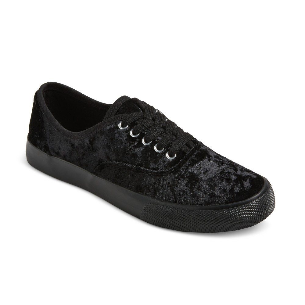 Womens Savannah Velvet Sneakers - Mossimo Supply Co. Black 7